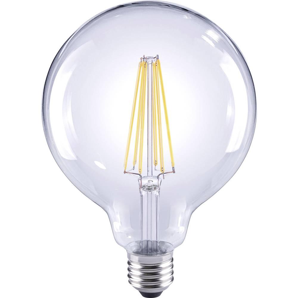 LED žarnica E27 okrogla oblika 12 W = 98 W topla bela EEK: A++ Sygonix filament 1 kos