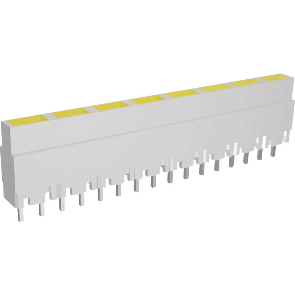 LED-Reihe (value.1317426) Signal Construct ZALW 081 (L x B x H) 40.8 x 3.7 x 9 mm 8x Gul