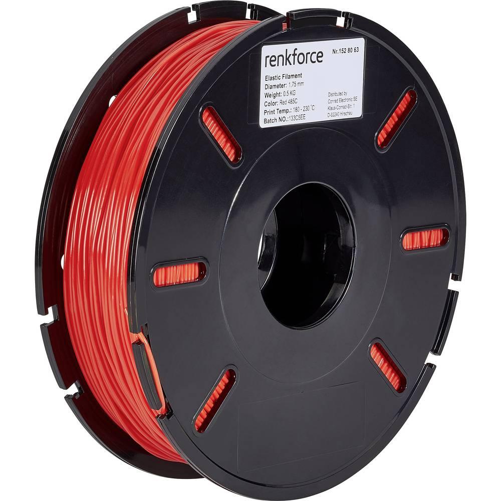 Filament Renkforce TPE polfleksibilni 1.75 mm rdeče barve 500 g