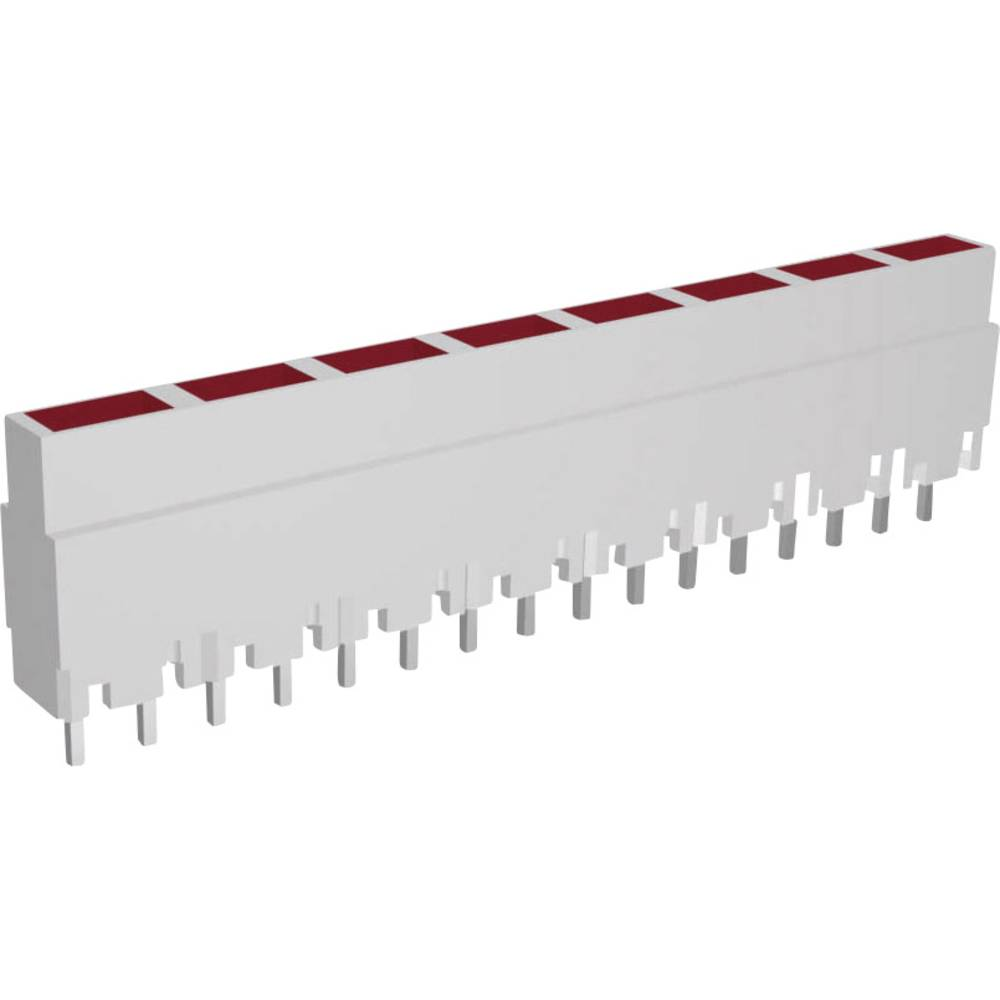LED-Reihe (value.1317426) Signal Construct ZALW 080 (L x B x H) 40.8 x 3.7 x 9 mm 8x Rød