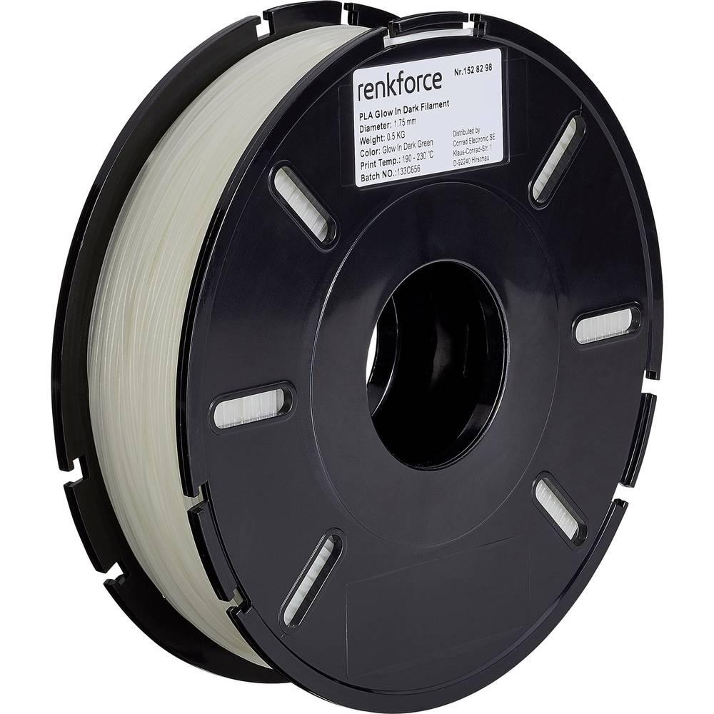Filament Renkforce PLA 1.75 mm zelene barve (fluorescentna) 500 g