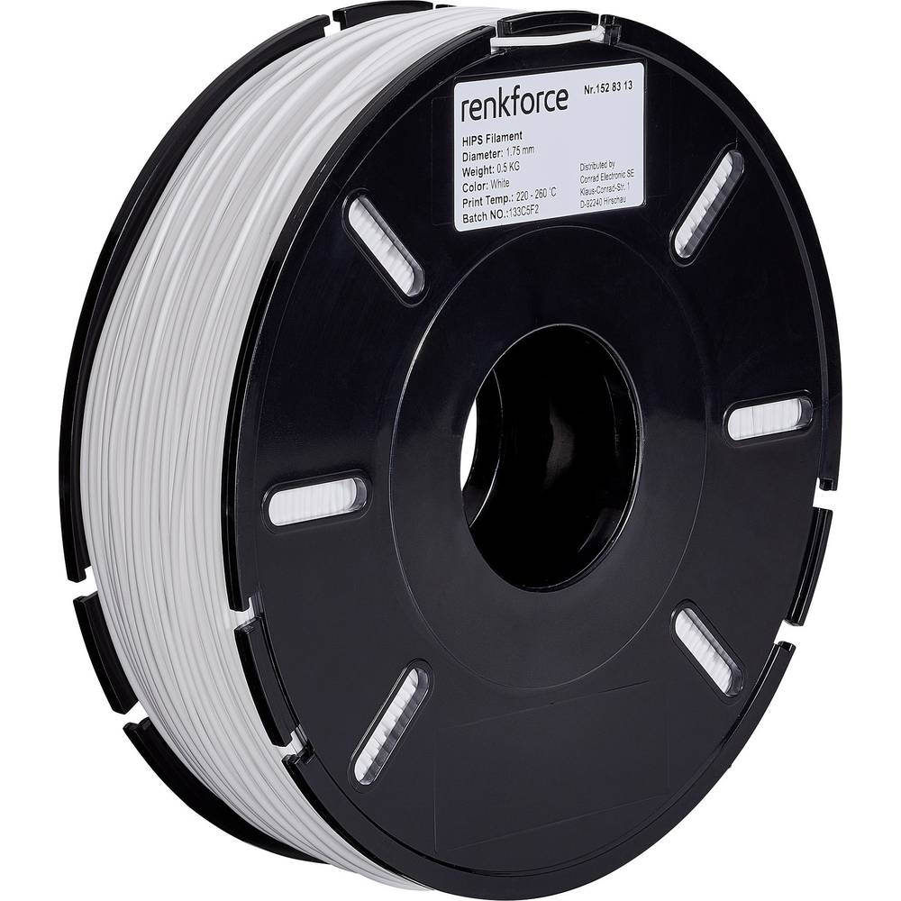 Filament Renkforce HIPS 1.75 mm bele barve 500 g