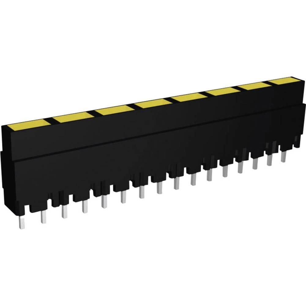 LED vrstne diode, 8-delne, rumena (D x Š x V) 40.8 x 3.7 x 9 mm Signal Construct ZALS 081