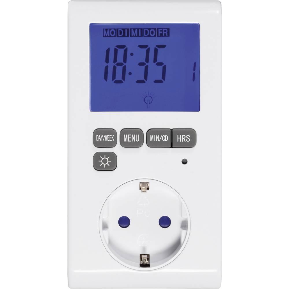 Digitalna časovna stikalna ura, tedenski program, Sygonix, 3680 W, IP20, osvetljen zaslon