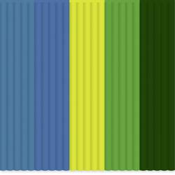 Filamentpaket 3Doodler PL-MIX8 PLA-plast 2.85 mm Ljusgrön, Mörkgrön, Gul, Blå, Bensin 55 g