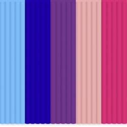 Filamentpaket 3Doodler PL-MIX9 PLA-plast Ljusblå, Royal-blå, Purpur, Rosa 55 g