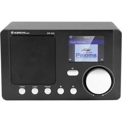 Internetni namizni radio Albrecht DR 422 AUX, DLNA, internetni radio, WLAN, DAB+ DLNA pripravljen, črne barve