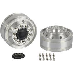 Carson Modellsport 1:14 tovornjak platišča 21 mm aluminij srebrna 2 kos