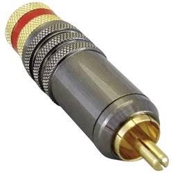 Cinch konektor, utikač, ravan, broj polova: 2 crvene boje TRU Components 1 kom.