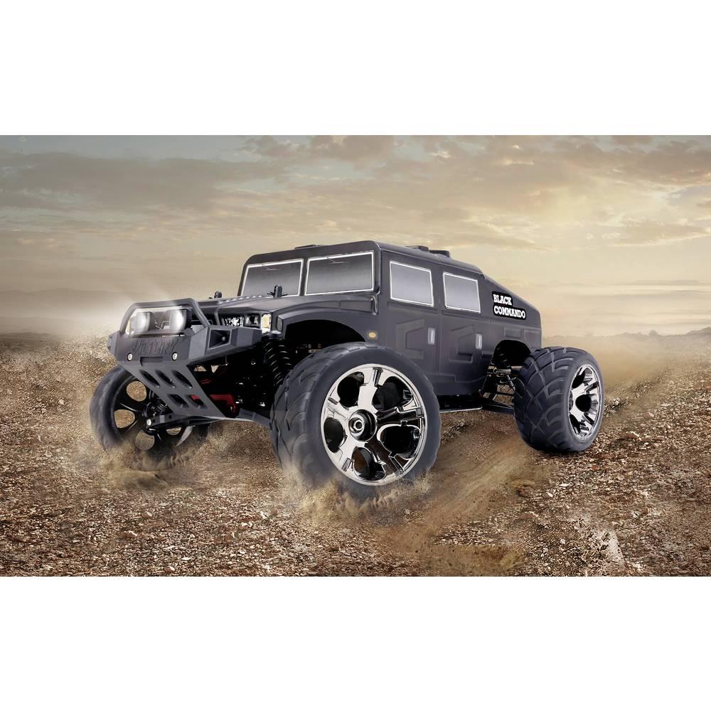 Reely Black Commando brez ščetk 1:10 RC modeli avtomobilov elektro truggy pogon na vsa kolesa (4wd) RtR 2,4 GHz