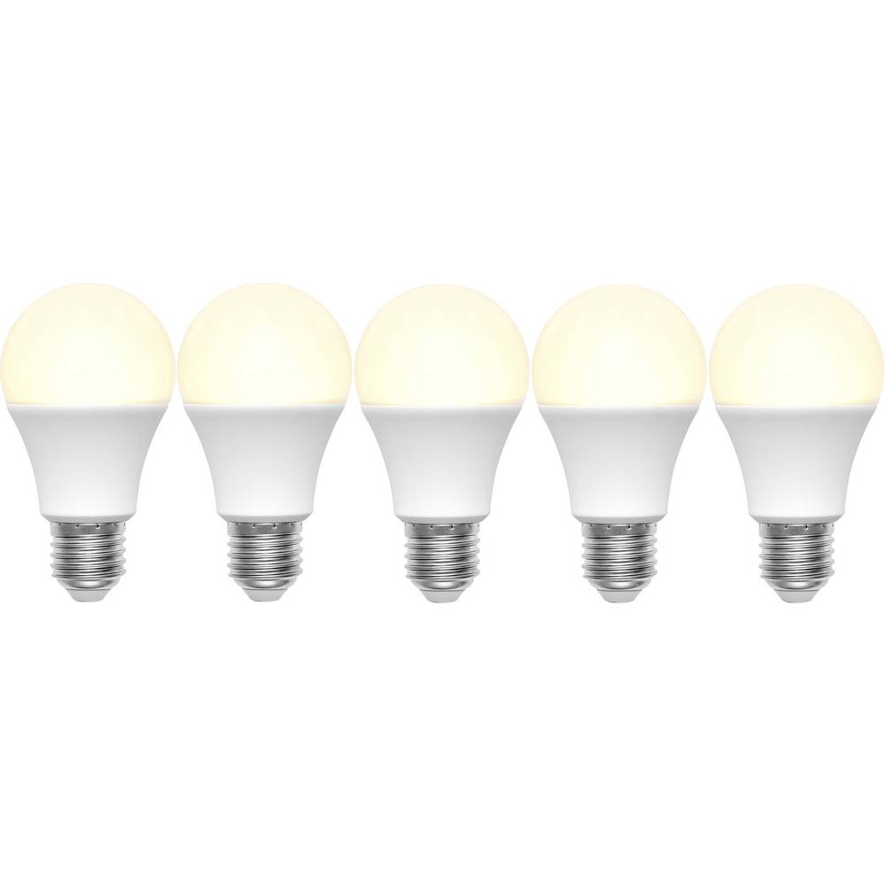 LED-sijalka Basetech, E27, hruškasta oblika, 9 W = 60 W, topla bela, (Ø x D) 60 x 110 mm, energijski razred A+, 5 kosov