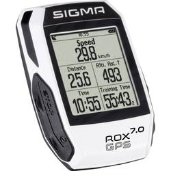 Kolesarski števec, brezžični Sigma ROX 7.0 GPS bele barve, kodiran prenos