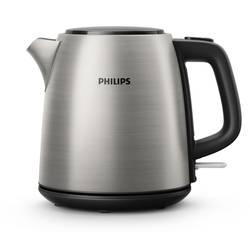 Vodni kuhalnik, brezžični Philips HD9348/10 Daily Collection iz nerdavečega jekla, črne barve