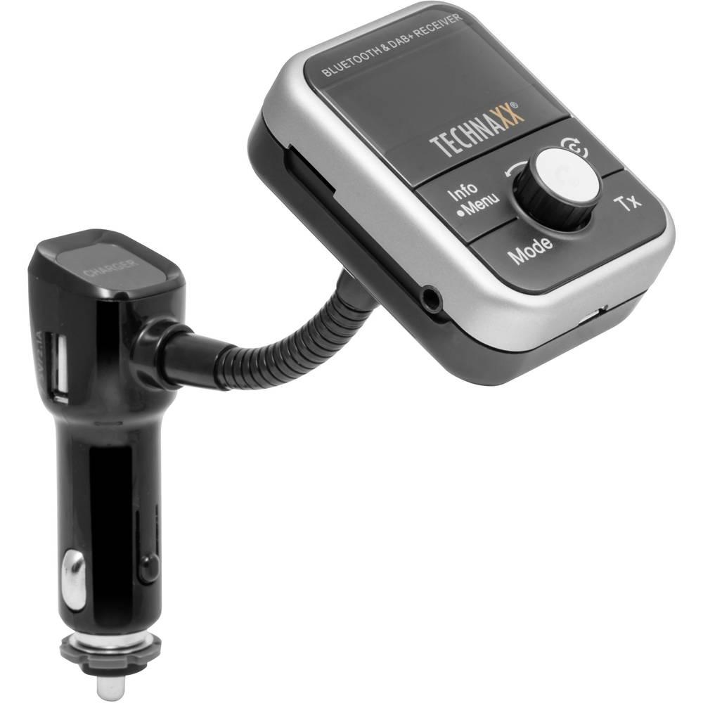 FM oddajnik Technaxx FMT1000BT DAB+ Tuner, vklj. s prostoročno funkcijo, z daljinskim upravljanjem s polnilno funkcijo za iPhone