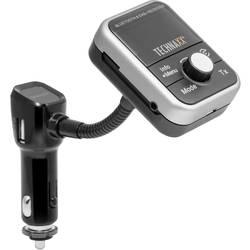 DAB+ -bilradio-adapter Technaxx FMT1000BT DAB+ tuner , inkl. håndfri funktion, med fjernbetjening, med ladefunktion til iPhone