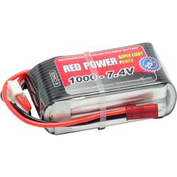 Red Power lipo akumulatorski paket za modele 7.4 V 1000 mAh Število celic: 2 25 C mehka torba odprt konec kabla