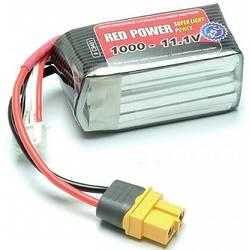 Red Power lipo akumulatorski paket za modele 11.1 V 1000 mAh Število celic: 3 25 C mehka torba bec-vtičnica