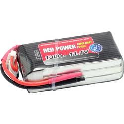 Red Power LiPo akumulatorski paket za modele 11.1 V 1300 mAh Število celic: 3 25 C Mehka torba Odprt konec kabla
