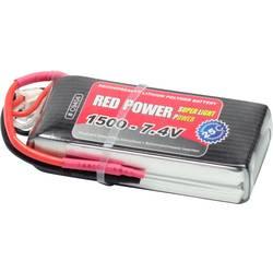 Red Power lipo akumulatorski paket za modele 7.4 V 1500 mAh Število celic: 2 25 C mehka torba odprt konec kabla