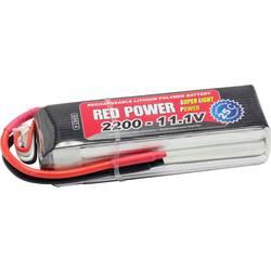 Red Power LiPo akumulatorski paket za modele 11.1 V 2200 mAh Število celic: 3 25 C Mehka torba Odprt konec kabla