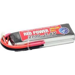 Red Power lipo akumulatorski paket za modele 7.4 V 2700 mAh Število celic: 2 25 C mehka torba odprt konec kabla