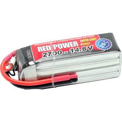 Red Power LiPo akumulatorski paket za modele 14.8 V 2700 mAh Število celic: 4 25 C Mehka torba Odprt konec kabla