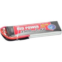 Red Power LiPo akumulatorski paket za modele 7.4 V 3500 mAh Število celic: 2 25 C Mehka torba Odprt konec kabla