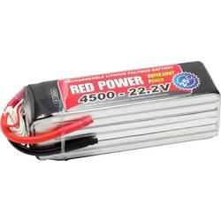 Red Power lipo akumulatorski paket za modele 22.2 V 4500 mAh Število celic: 6 25 C mehka torba odprt konec kabla