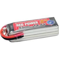 Red Power lipo akumulatorski paket za modele 14.8 V 5500 mAh Število celic: 4 25 C mehka torba odprt konec kabla