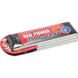Red Power lipo akumulatorski paket za modele 14.8 V 3500 mAh Število celic: 4 25 C mehka torba odprt konec kabla
