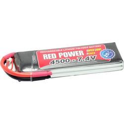 Red Power lipo akumulatorski paket za modele 7.4 V 4500 mAh Število celic: 2 25 C mehka torba odprt konec kabla