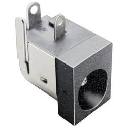 Niskonaponski konektor, utičnica, horizontalna ugradnja 6.3 mm 2.5 mm TRU Components 1 kom.