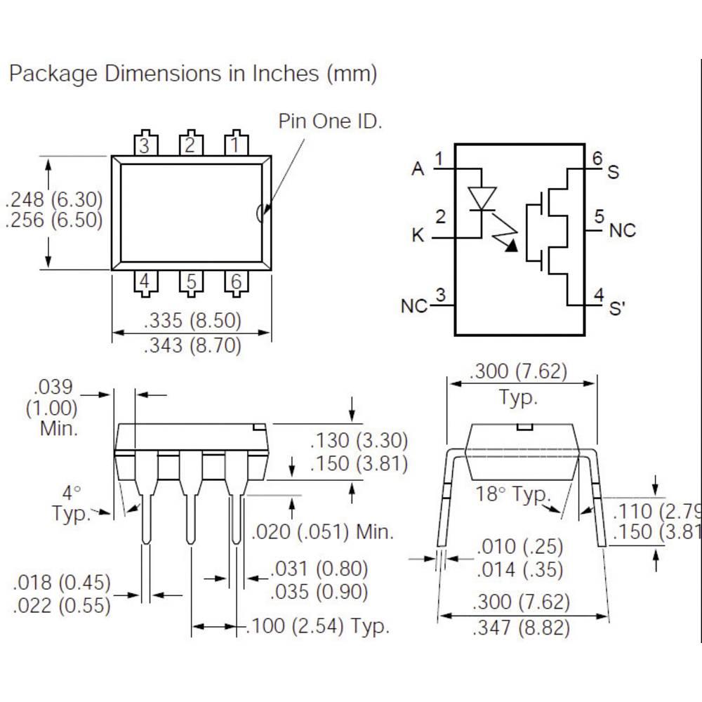 Polprevodniški rele 1 kos. Vishay LH1540AT bremenski tok (maks.): 60 mA, 150 mA