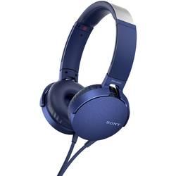 Sony MDR-XB550AP HiFi Over Ear slušalke Over Ear Naglavni komplet Modra