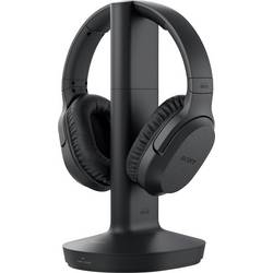 Sony MDR-RF895RK Brezžični TV Over Ear slušalke Over Ear Kontrola glasnosti, Odpravljanje šumov Črna