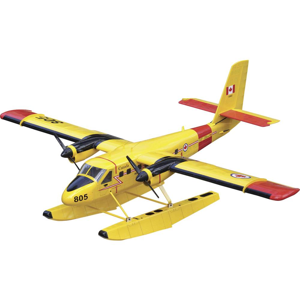 VQ Twin Otter Rumena RC Model motornega letala ARF 1875 mm