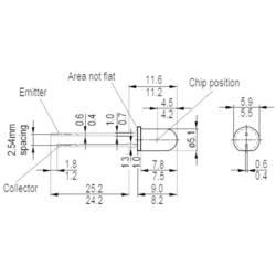 Fototransistor OSRAM SFH 300 FA-3/4 5 mm 1100 nm 25 °