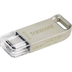Transcend JetFlash® 850 USB priključek srebrna 64 GB USB-C™ USB 3.1