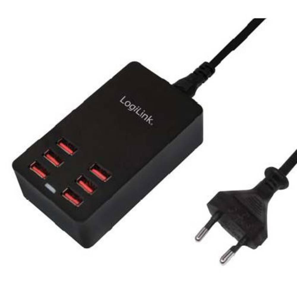 LogiLink PA0139 PA0139 USB napajalnik vtičnica Izhodni tok maks. 6400 mA 6 x USB samodejno zaznavanje