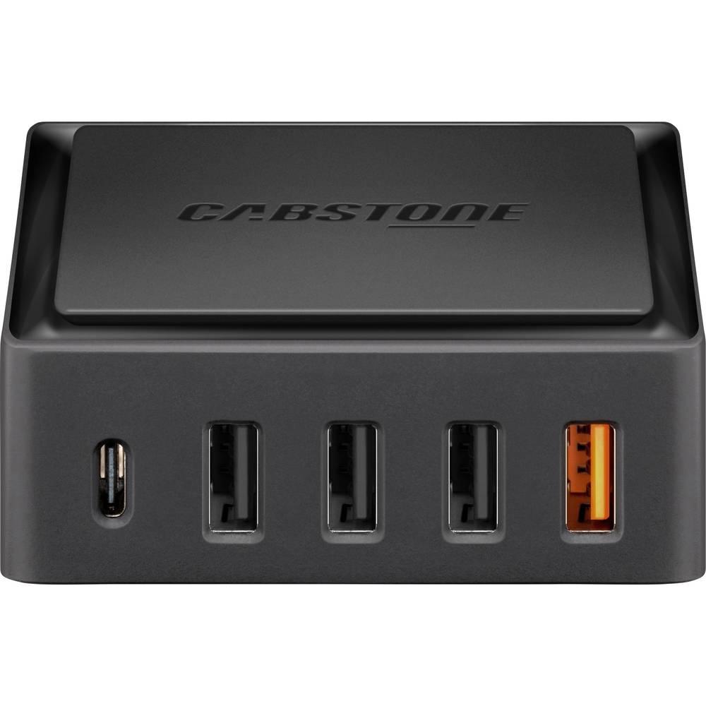USB-oplader Cabstone 45213 45213 Stikdåse Udgangsstrøm max. 8000 mA 5 x USB 2.0 Buchse A (value.1390697), USB-C™ Buchse (v