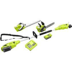 Haveværktøj-sæt Batteridriven Zipper 40 V Litium inkl. Batteri, Bærerem