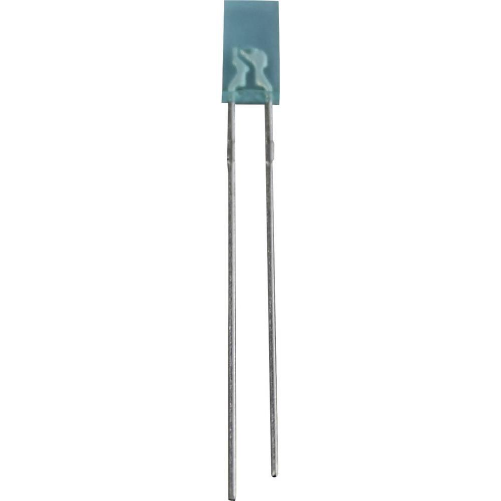 Ožičana LED dioda, plava, pravokutna 2 x 4 mm 80 mcd 50 ° 20 mA 3.2 V LR 1401