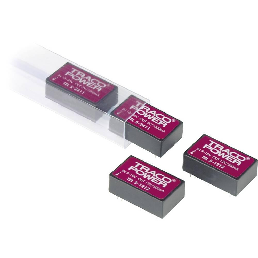 DC/DC pretvornik za tiskano vezje TracoPower TEL 5-1212 12 V/DC 12 V/DC 500 mA 6 W št. izhodov: 1 x