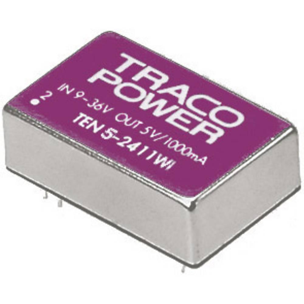 DC/DC pretvornik za tiskano vezje TracoPower TEN 5-2411WI 24 V/DC 5 V/DC 1 A 5 W št. izhodov: 1 x