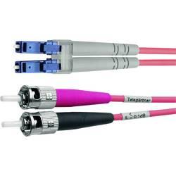 Telegärtner Steklena vlakna LWL Priključni kabel [1x Moški konektor ST - 1x Moški konektor LC] 50/125 µ Multimode OM4 1 m