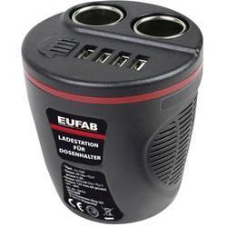 Razdelilnik za cigaretni vžigalnik, št. cigaretnih vtičnic: 2 x vmesnik: USB 4 x maks. tokovna obremenitev 13.2 A Eufab 16474