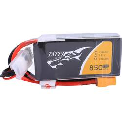 LiPo akumulatorski paket za modele 14.8 V 850 mAh Broj ćelija: 4 75 C Tattu Softcase XT60