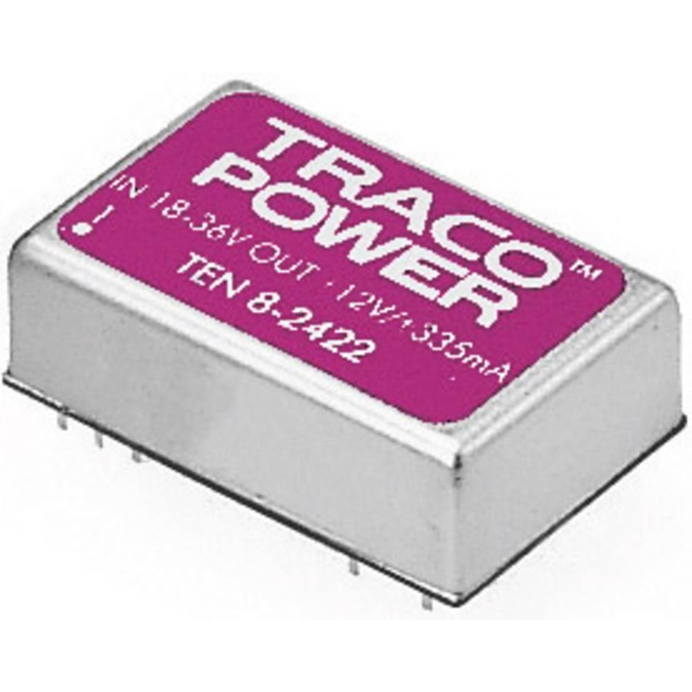 DC/DC pretvornik za tiskano vezje TracoPower TEN 8-4822 48 V/DC 12 V/DC, -12 V/DC 335 mA 8 W št. izhodov: 2 x