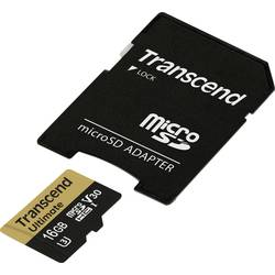 microSDHC-Kort Transcend Ultimate UHS-I U3M Class 10, Class 3 UHS-I , v30 Video Speed Class 16 GB inkl. SD-adapter