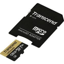 microSDXC-Kort Transcend Ultimate UHS-I U3M Class 10, Class 3 UHS-I , v30 Video Speed Class 128 GB inkl. SD-adapter